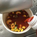 「あさイチ」紹介の、「災害時のカップ麺の食べ方」野菜ジュースで30分をやってみた