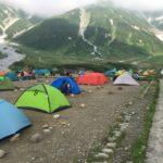 黒部ダム~立山登山・1日目後半 予約不要で気温も快適・雷鳥沢キャンプ場を利用