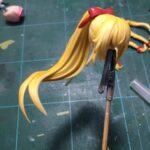 【創彩少女庭園】髪や服に陰影を付けて塗装していきます